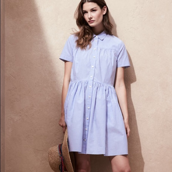c045e0a4cbc17 kate spade Dresses & Skirts - Kate Spade Striped Poplin Blue White Shirt  Dress